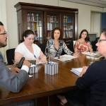 Reunião do Dr. Marivaldo com as pesquisadoras do Projeto Pensando o Direito em parceria com o IPEA/Foto:Isaac Amorim/AG:MJ