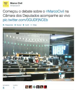 Início dos debates sobre o Marco Civil na Câmara dos Deputados